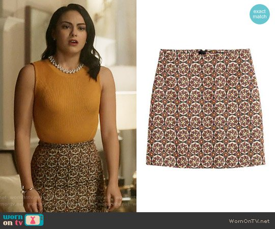 hm-patterned-skirt-beige-veronica-riverdale