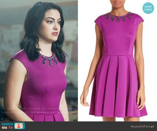 veronica purple dress