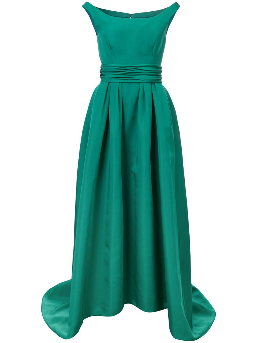 Carolina Herrera Off Shoulder High Low Gown