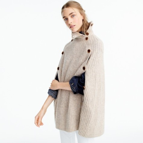 jcrew convertible sweater cape
