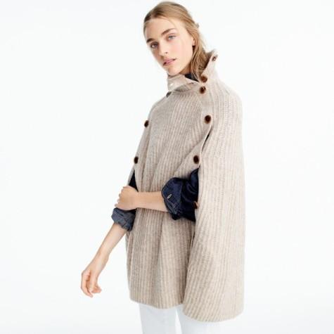 jcrew convertible sweater cape