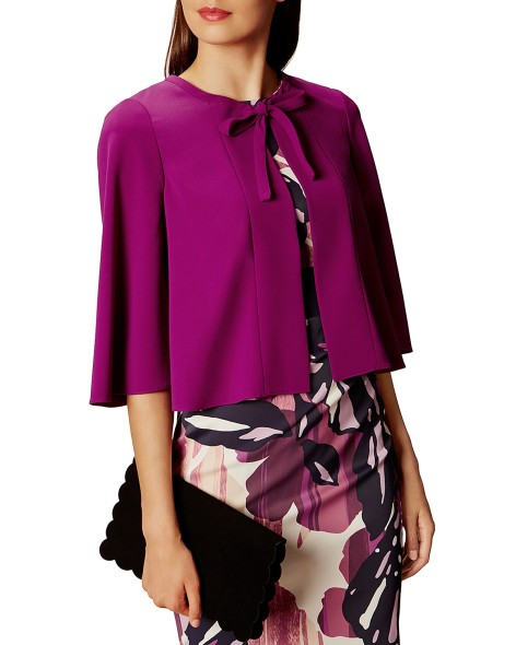 karen millen cropped cape jacket