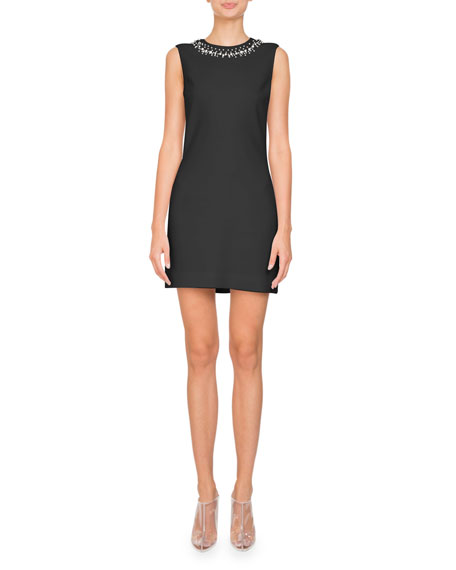 Givenchy Sleeveless Stretch Cady Sheath Mini Cocktail Dress
