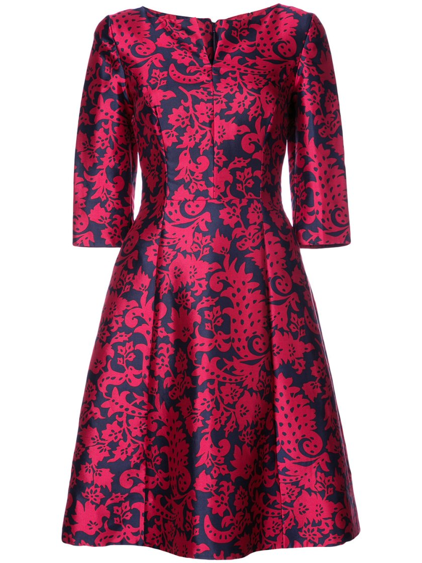 Oscar De La Renta Brocade Print Dress