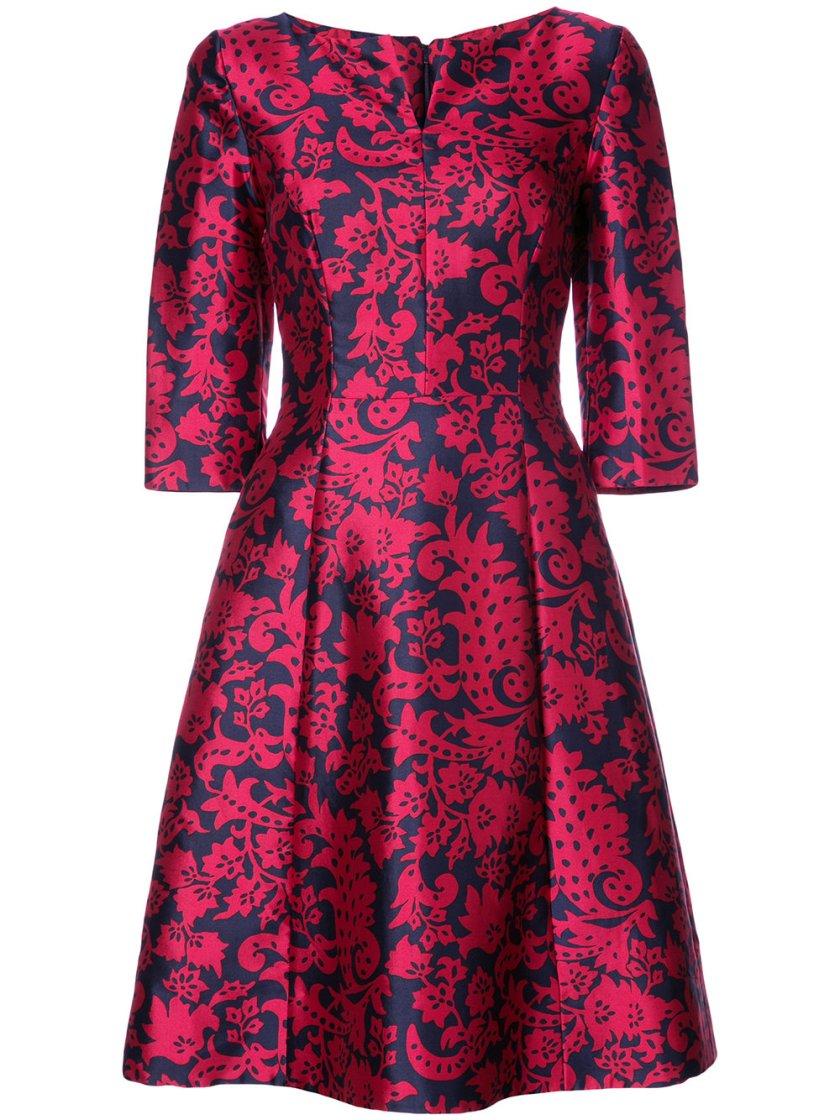 Oscar De La Renta Brocade Print Dress