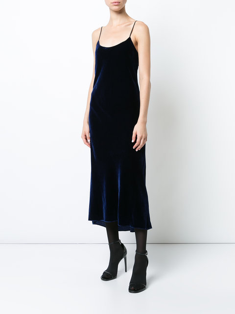 Tibi Velvet Bias Dress