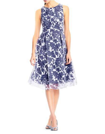 Adrianna Pappell Floral Organza Dress